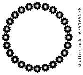 black and white silhouette... | Shutterstock .eps vector #679169578