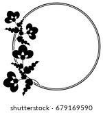 black and white silhouette... | Shutterstock .eps vector #679169590