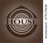 house wood emblem. vintage.   Shutterstock .eps vector #679170628