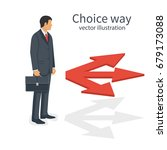 choice way concept. decision... | Shutterstock .eps vector #679173088