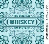 vintage label design for