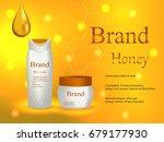 cosmetics  shampoo honey and... | Shutterstock .eps vector #679177930