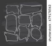 comic speech bubbles doodle set | Shutterstock .eps vector #679178563