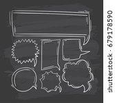 comic speech bubbles doodle set | Shutterstock .eps vector #679178590