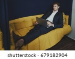 young handsome entrepreneur... | Shutterstock . vector #679182904