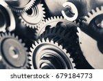 engine gear wheels  industrial... | Shutterstock . vector #679184773