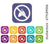 no moth sign icons set vector... | Shutterstock .eps vector #679189006