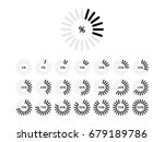 set of circle percentage... | Shutterstock .eps vector #679189786