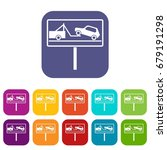 no parking sign icons set... | Shutterstock .eps vector #679191298