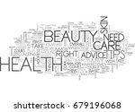 beauty and health tips text... | Shutterstock .eps vector #679196068
