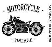 old vintage motorcycle | Shutterstock .eps vector #679207510
