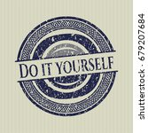 blue do it yourself rubber stamp | Shutterstock .eps vector #679207684