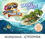 summer island trip tour ... | Shutterstock .eps vector #679209406