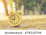 9 o'clock alarm clock in the... | Shutterstock . vector #679210744