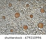 white stone wall background | Shutterstock . vector #679210996