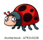 sad ladybug on white background ... | Shutterstock .eps vector #679213228