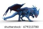 3d cg rendering of a dragon | Shutterstock . vector #679213780