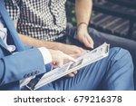 start up business team discuss... | Shutterstock . vector #679216378