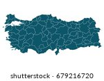 map of turkey   high detailed...