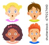 set of girls and boy character. ... | Shutterstock .eps vector #679217440