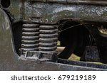 close up of rusted springs on... | Shutterstock . vector #679219189