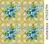 seamless floral pattern with... | Shutterstock .eps vector #679223794