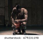 fitness exercises with dumbbells | Shutterstock . vector #679231198