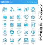 modern thin line icons set of... | Shutterstock .eps vector #679232140