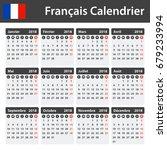french calendar for 2018.... | Shutterstock .eps vector #679233994
