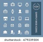 simply web icon set  vector | Shutterstock .eps vector #679239304
