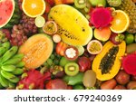 Tropical Fruits Background ...
