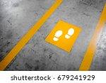 walkway lane in parking... | Shutterstock . vector #679241929