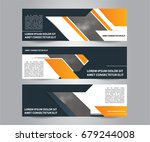 set of modern business banner... | Shutterstock .eps vector #679244008