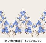 flowery bright border in small... | Shutterstock .eps vector #679246780