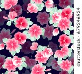 seamless gorgeous pattern in... | Shutterstock .eps vector #679246924
