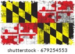 the flag of maryland | Shutterstock . vector #679254553