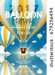 balloon festival ads  hot air... | Shutterstock .eps vector #679256494