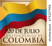 poster with patriotic colombian ... | Shutterstock .eps vector #679257904