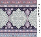 beautiful indian floral paisley ... | Shutterstock .eps vector #679259314