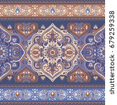 beautiful indian floral paisley ... | Shutterstock .eps vector #679259338