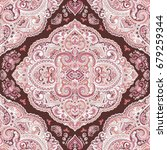 beautiful indian floral paisley ... | Shutterstock .eps vector #679259344