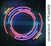circle neon light | Shutterstock .eps vector #679266808