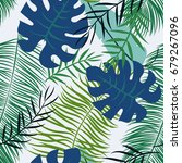 seamless pattern with tropical... | Shutterstock .eps vector #679267096