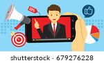 video marketing advertising... | Shutterstock .eps vector #679276228