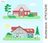 family home   icon set 3....   Shutterstock .eps vector #679276240
