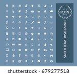 universal web icon set vector | Shutterstock .eps vector #679277518