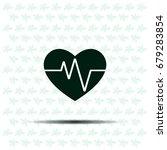 cardiogram icon vector | Shutterstock .eps vector #679283854
