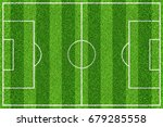 green soccer field with white... | Shutterstock . vector #679285558