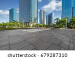 empty pavement and modern... | Shutterstock . vector #679287310