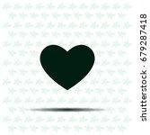 heart icon vector. | Shutterstock .eps vector #679287418
